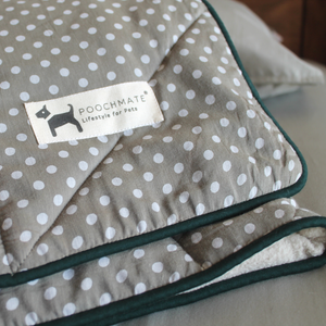 PM OAK Dotty Grey Fleece Blanket Large
