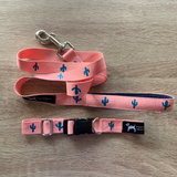 PoochMate Fancactus Leash & Collar Set