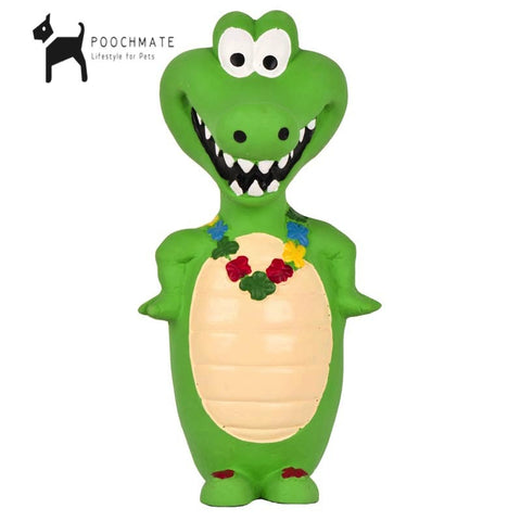 Pet Brands Squeaker Crocodile Toy