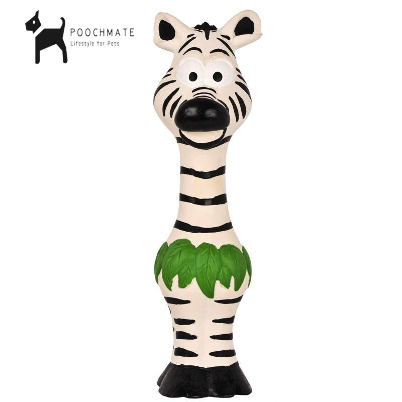 Pet Brands Go Wild Squeaker Zebra Toy