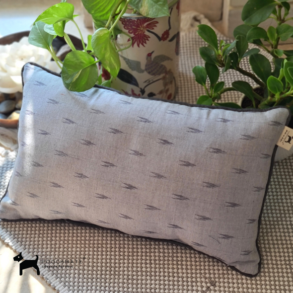 PoochMate Ikat Grey Dog Pillow