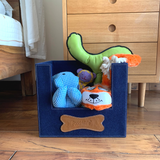 PoochMate Toy Basket : Navy