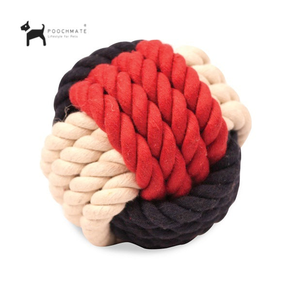 Rope toy for dogs helps keep gums clean and removes tartar