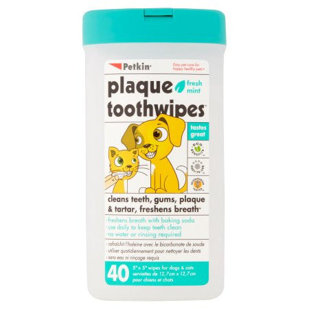 Plaque Toothwipes for dogs and cats
