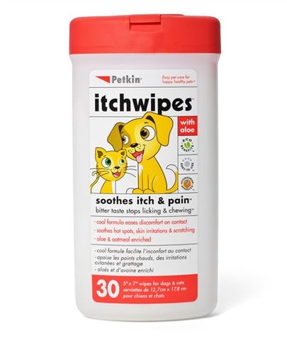 Petkin Anti Itch Wipes