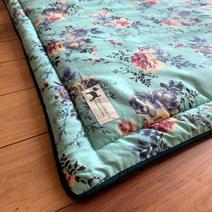 PM Sea Green Floral Mat - Large