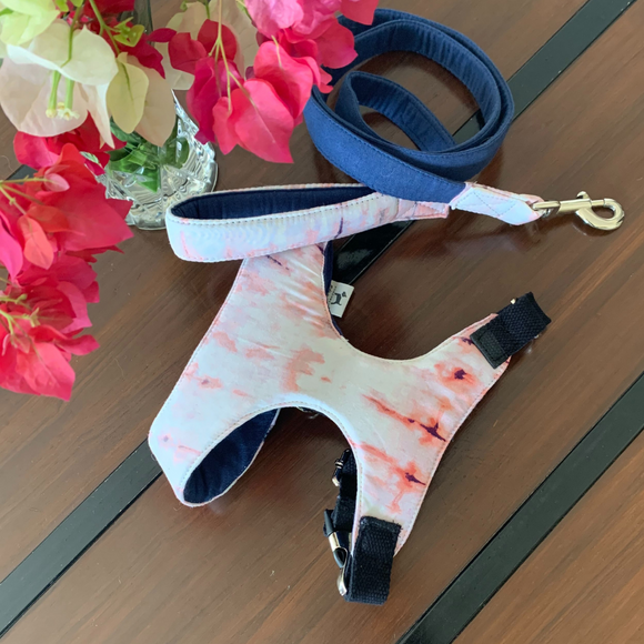 OAK Pink Tie & Dye Harness & Lead Set - Small