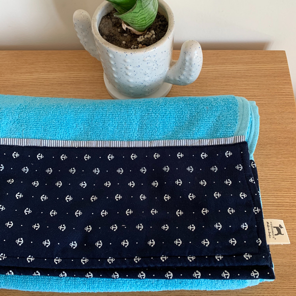 PoochMate OAK Doggie Towel - Sky Anchor
