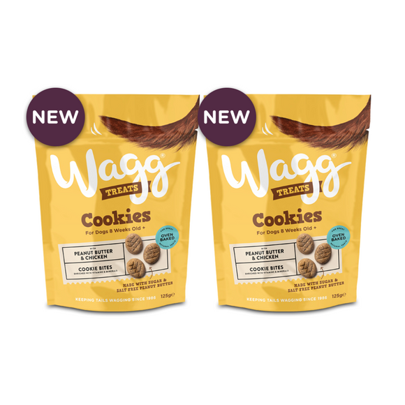 Wagg Peanut Butter & Chicken Cookies Set of 2