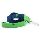 PoochMate Mandarin Leash & Collar Set - Green & Navy