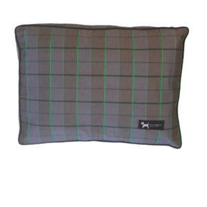 PoochMate Checkered Flat Dog Bed - Green