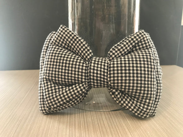 PoochMate Black & White Checks Dog Bow Tie