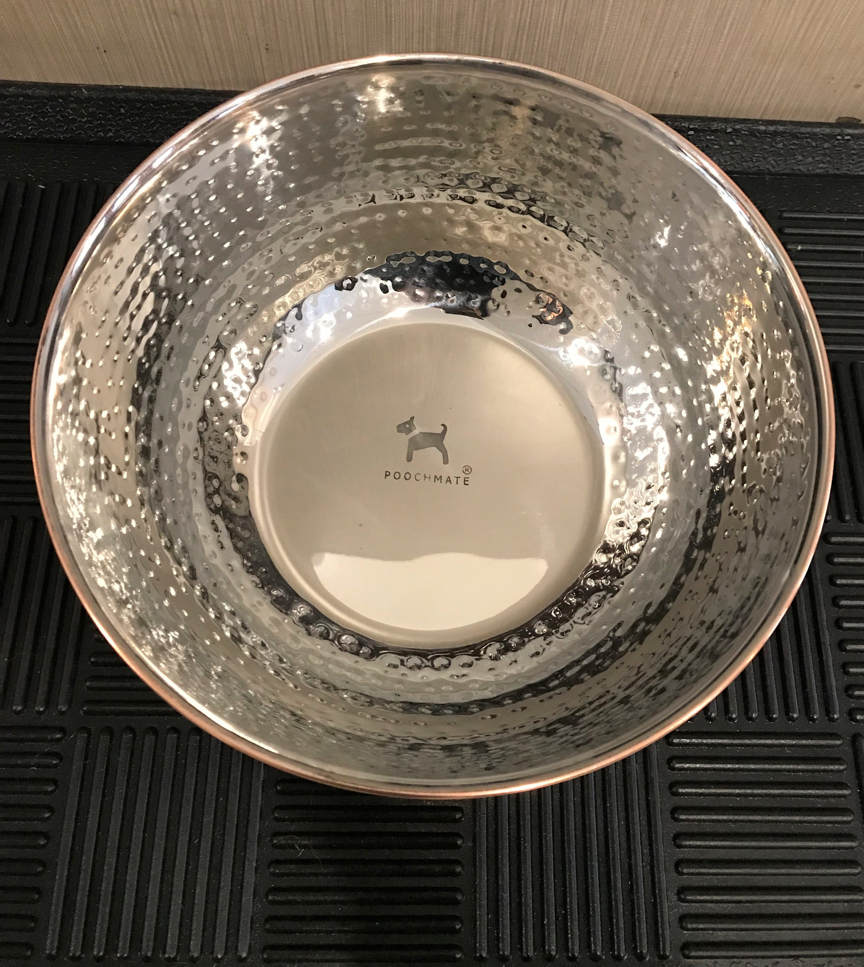 PoochMate Hammered Copper Dog Bowl