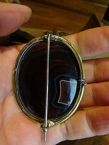 A Victorian Banded Agate Cameo Brooch