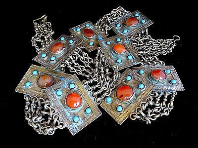 An Antique Tribal Turkmen Gemstone Belt