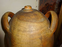 Antique French Crouche Château Large Earthenware Oil Container