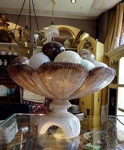 Beautiful Vintage Sculptural Handcarved Alabaster Centerpiece