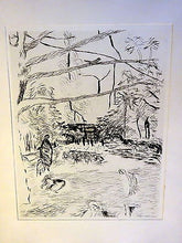 An Original c 1937 Pierre Bonnard Etching Print