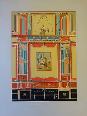 Antique Chromolithograph Folio Print Pompei Architecture IX