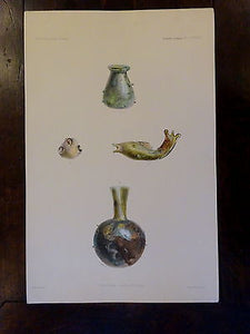 Antique Lithograph c 1903 Ancient Glass Print II