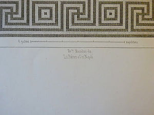 Antique Chromolithograph Folio Print Pompei Architecture XIII