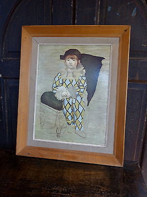 Fabulous Vintage 1960s Framed Print on Board after Picasso