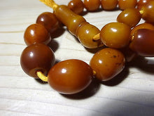 Antique Egg Yolk Amber Bakelite Graduated Beads Faturan Komboloi