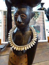 Authentic Vtg c1950s African Tribal Cowrie Shell Choker Necklace