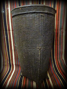 Antique 19th Century Burma Burmese Woven Rice Carrying Basket II