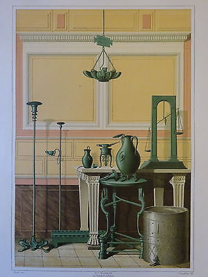 Antique Chromolithograph Folio Print Pompei Architecture V