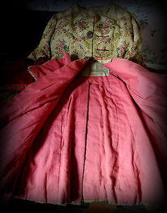 Late 19thC French Silk Brocade & Velvet Theatrical Costume Mens Frockcoat Jacket