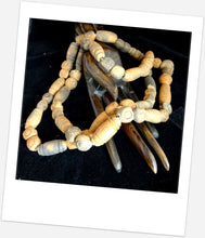 A String of Antique African Spindle Clay Pottery Beads