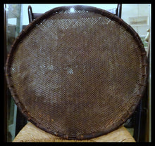 An Antique Burmese Threshing Rice Bamboo Tray