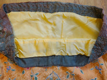 Antique Qing Chinese Taoist Priest Yellow Textile Fragment