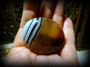 A Victorian Cabochon Banded Agate Brooch