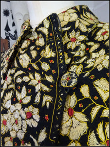 Early 20th Century Kashmir Silk on Wool All Over Embroidery Floral Coat
