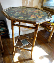 An Antique Octagonal Bamboo Occasional Table