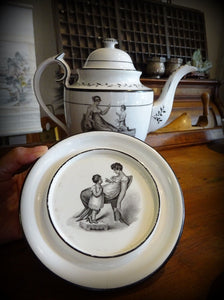 Regency Greek Revival New Hall Part Tea Set Mother Child Adam Buck Jane Austen