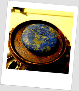 Ancient Old Afgan Lapis Lazuli Disk Large Bead