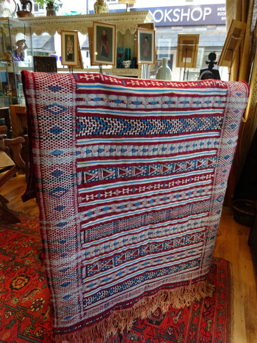 Superb Pattern Vintage Moroccan Tribal Tent Door Wall Hanging Geometric Kilim