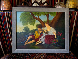 A circa 1930s Naive Oil Painting on Board