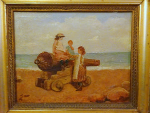 A Victorian Impressionist Oil Painting