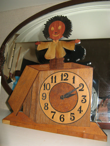A Vintage Folk Art Wooden Clock