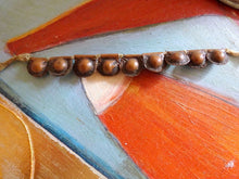 Antique Telsum Type Copper Bead Bells Bracelet Necklace Talisman African Tribal