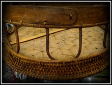 An Antique South East Asian Bamboo Tray on Willow Base