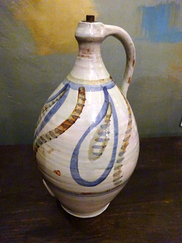 Howard Bissell Studio Pottery Mid Century Coiled Cider Jug Flagon