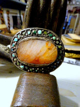 Antique Tibetan Agate, Silver & Turquoise Jewel