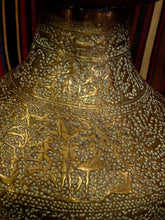 Superb Example of Islamic Metalwork Brass Mosque Lamp Script 19th Century