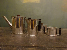 ART DECO RAF TRENCH ART TEA SERVICE MADE FROM SHELL CASES SILVER PLATE