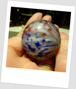 Huge Antique German Marble Glass Drawn Tribal Bead Latticino African Trade 35 mm